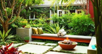 Landscaping in a small space
