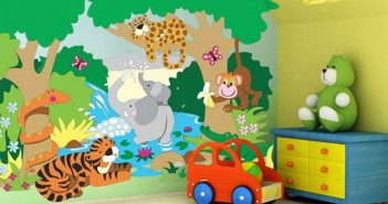 A beautifully painted kids room wall