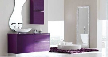 Purple and White Bathroom Design