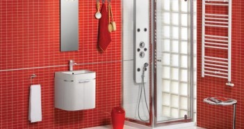 Red and White Bathroom Decor