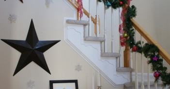 Decorating the Foyer for New Year